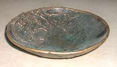 image of functional cast bronze bowl, link to Functional Bowl sculptures page