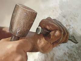 Hammer and Chisel Stone Sculpture